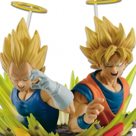 Dragon Ball Z Com : Figuration Gogeta Vol. 2 VEGETA & SON GOKU Super Saiyan
